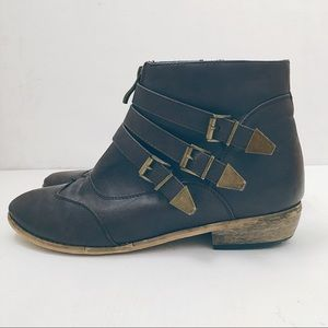 ModCloth Buckle Detail Ankle Boot